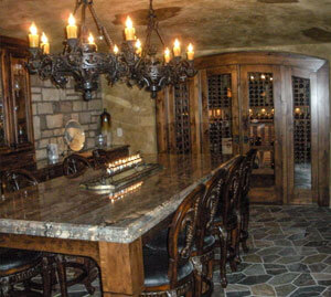 wine cellar custom homes
